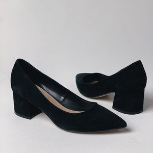 ALDO Suede Pointed Toe Block Heel Pumps